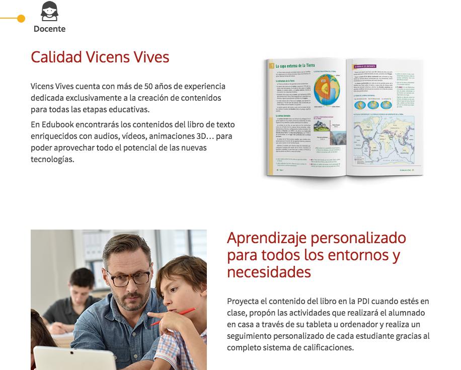 Característiques web | Vicens Vives