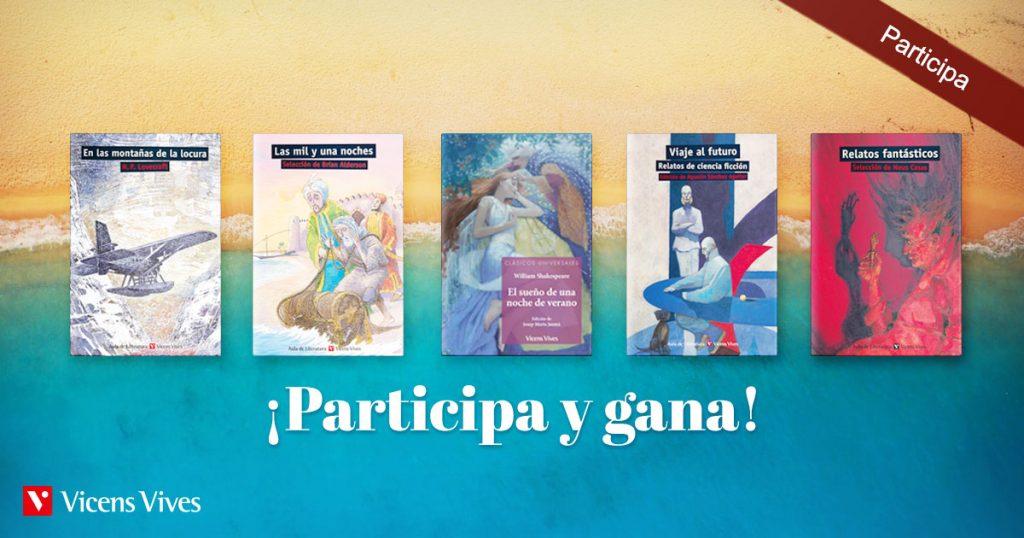 Portadas de los 5 libros en el sorteo de libros para el verano