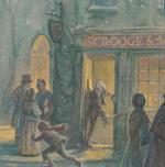 imagen del señor scrooge en canción de navidad libros ilustrados