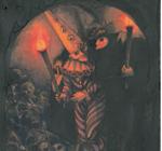 dos monstruos con calaveras de un relato de terror de libros ilustrados
