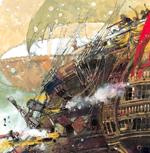detalle de un barco en la batalla de trafalgar libros ilustrados