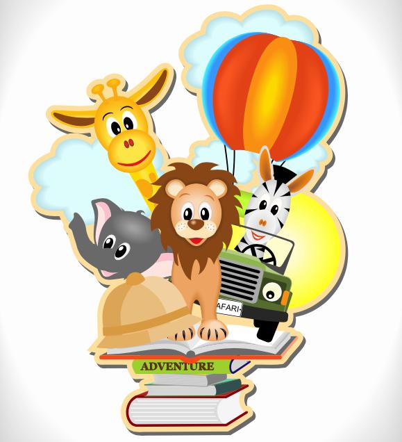 animales saliendo de un libro para el Día mundial de los animales