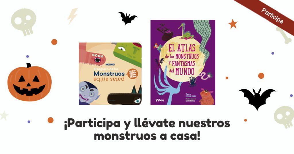 Imagen sorteo en Facebook de dos libros para aprender con los monstruos