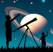 logo distant sun semana mundial del espacio