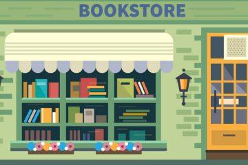 Dibujo de librería para ilustrar su importancia y la historia de las librerías