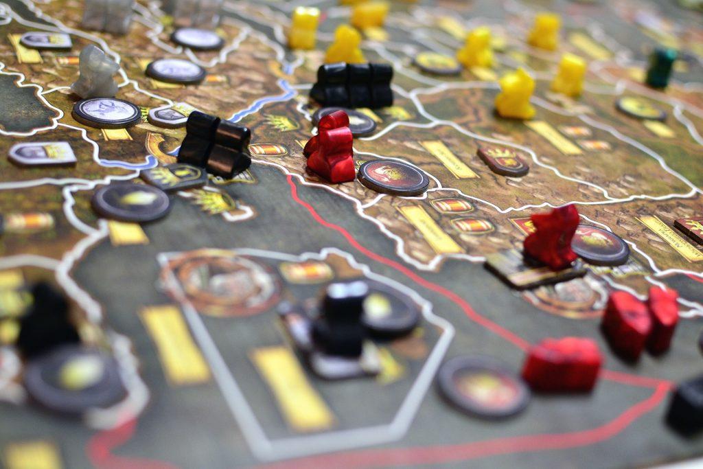 Tablero de estrategia para ilustrar los juegos de mesa