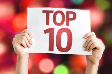 cartel de top 10 para ilustrar los posts más visitados de 2018