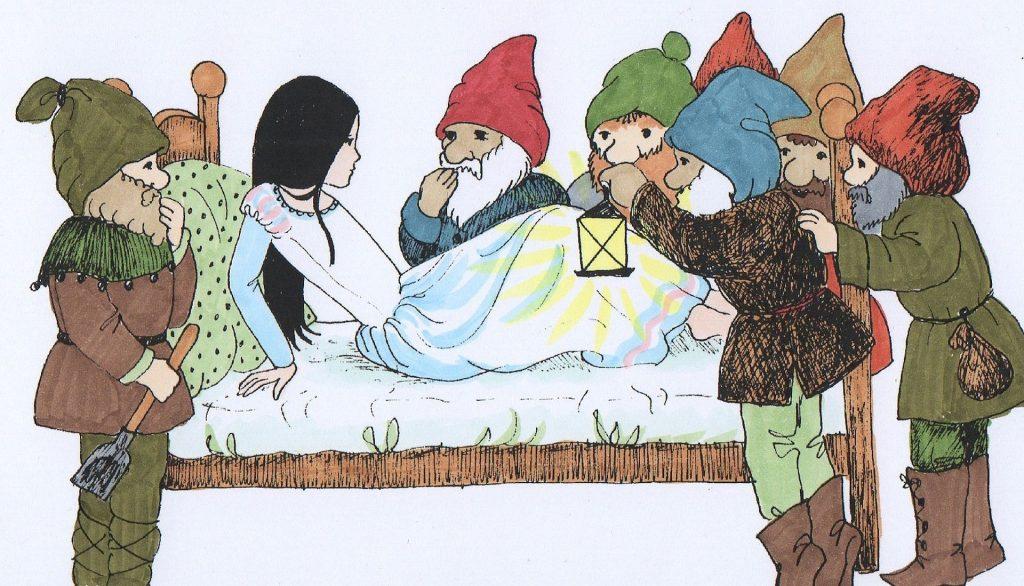 blancanieves y los siete enanitos cuento de los hermanos Grimm