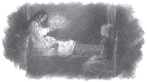 Ilustración Catherine y su suegro en Cumbres borrascosas