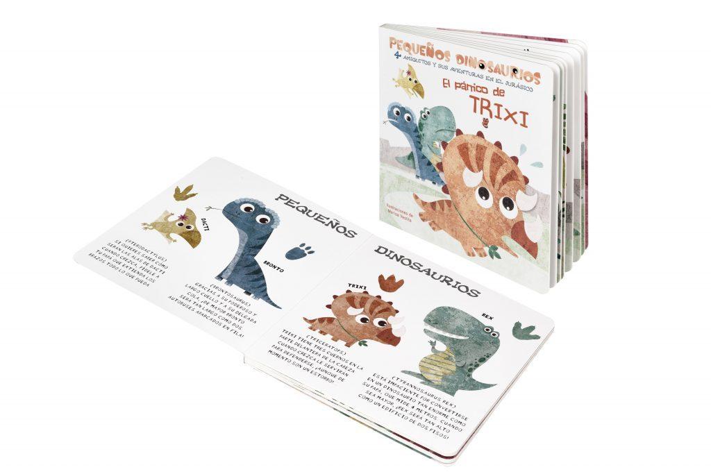 Libro El pánico de Trixi entre recursos educativos con dinosaurios