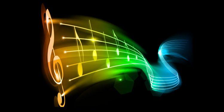 Partitura de colores para música y creatividad