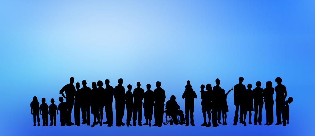 Diversidad incluida para ilustrar la educación inclusiva