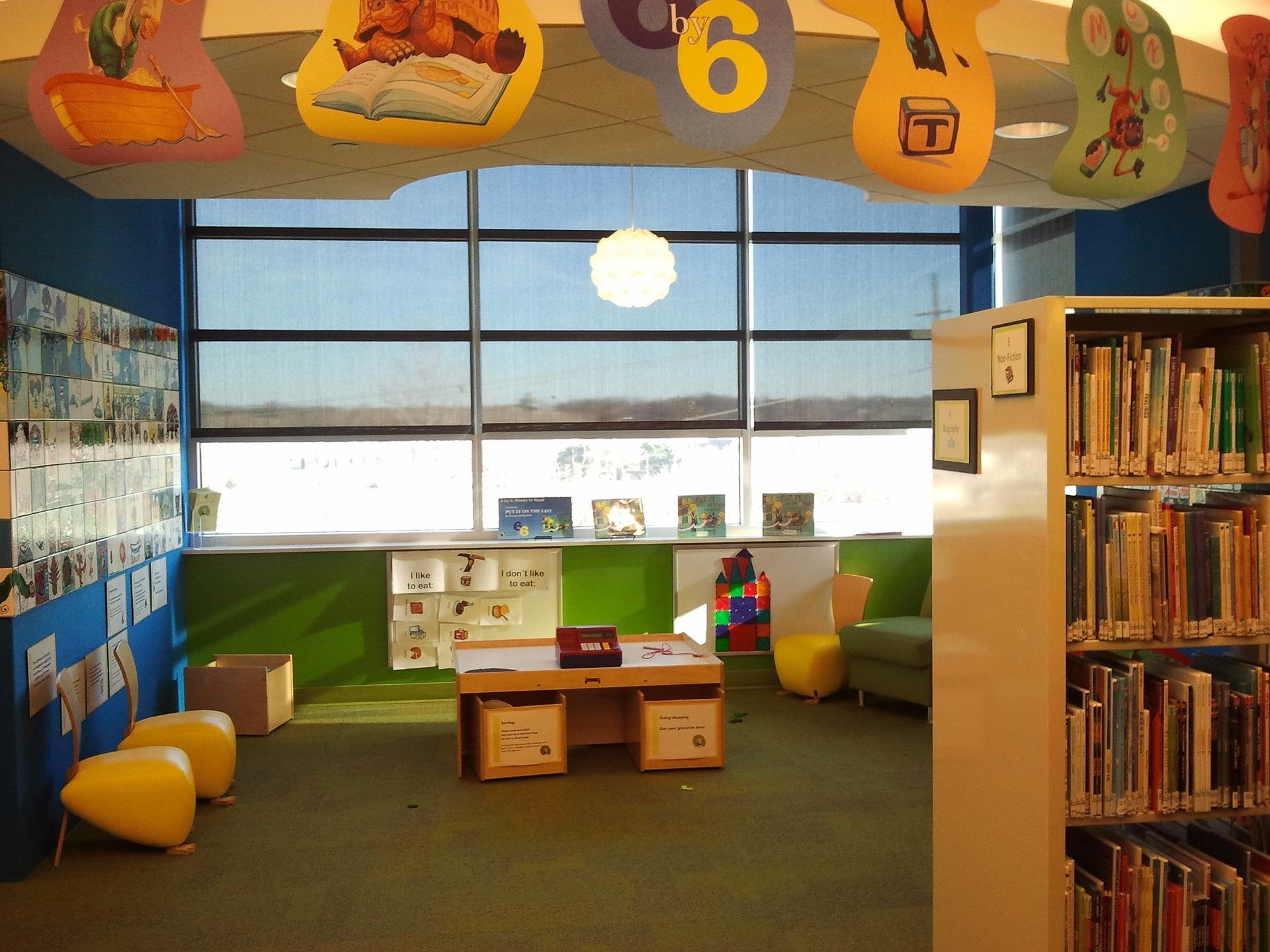 Imagen de una de las bibliotecas infantiles