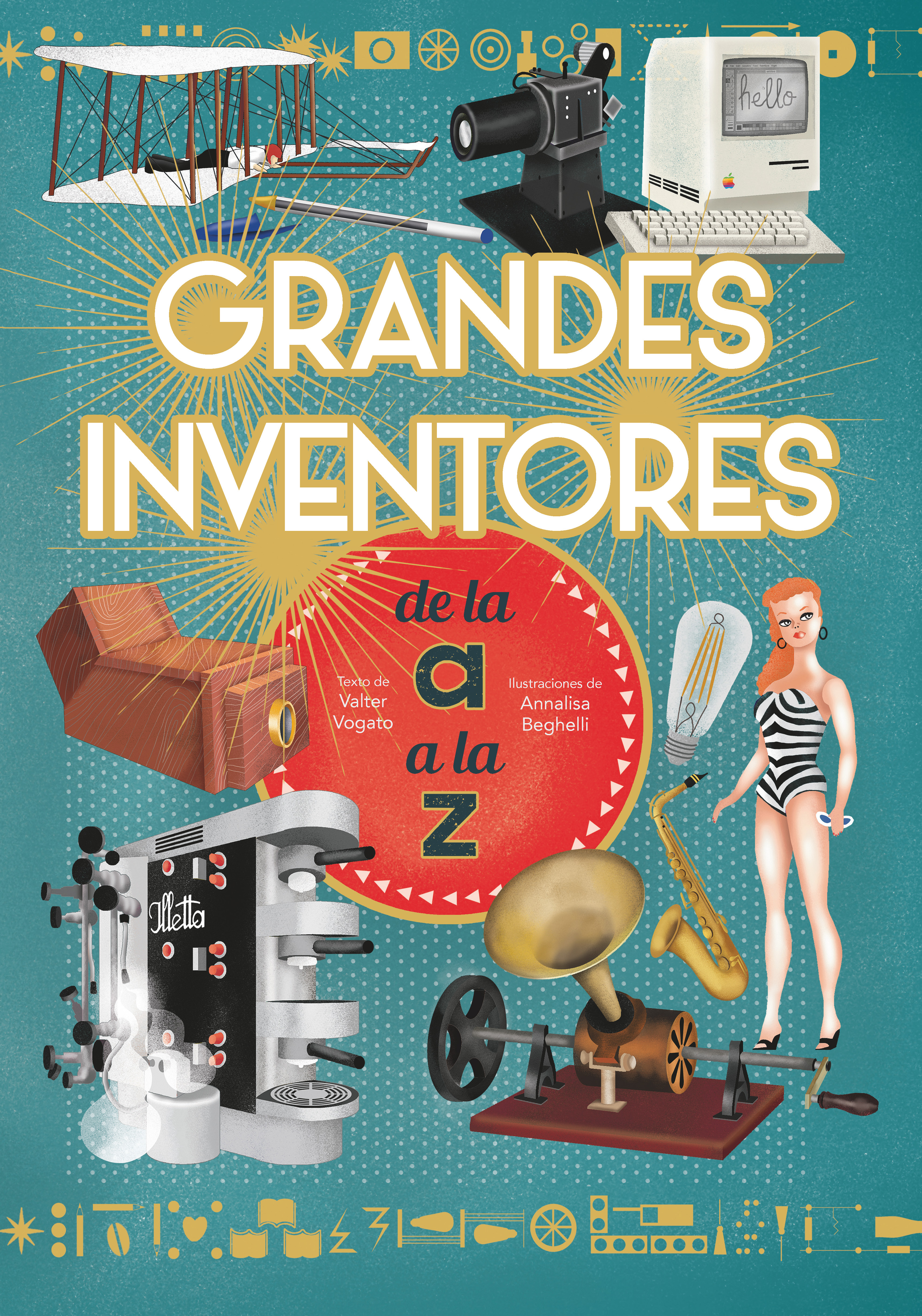 Portada del libro sobre los grandes inventores de la a a la z