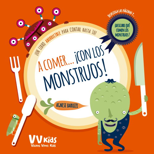 Portada libro A comer... ¡con los monstruos! Aprender con los monstruos