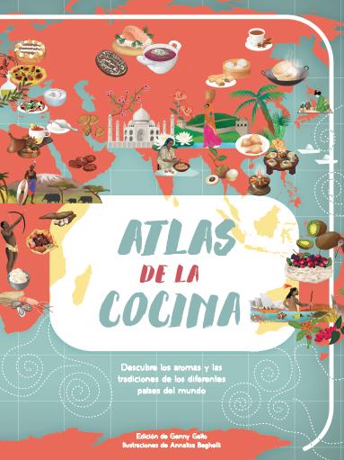 Portada del Atlas de la cocina de los libros para compartir en familia