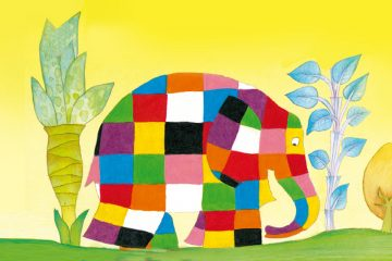 Il·lustracio de l'Elmer per celebrar el Dia de l'Elmer