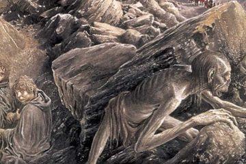Ilustración de Alan Lee par El Señor de los Anillos como literatura fantástica