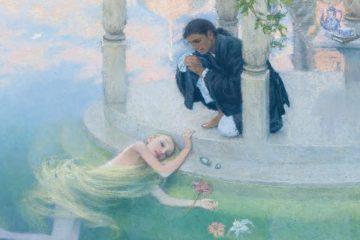 Ilustración de Christian Birmingham para la sirenita de Andersen