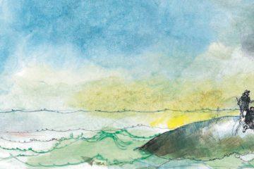 imatge del llibre Moby Dick amb tres mariners sobre la balena