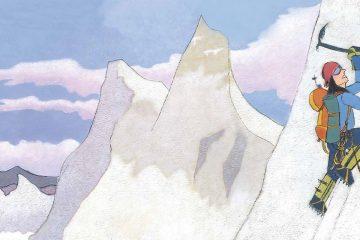 Ilustración de Edurne Pasaban en Mujeres Exploradoras
