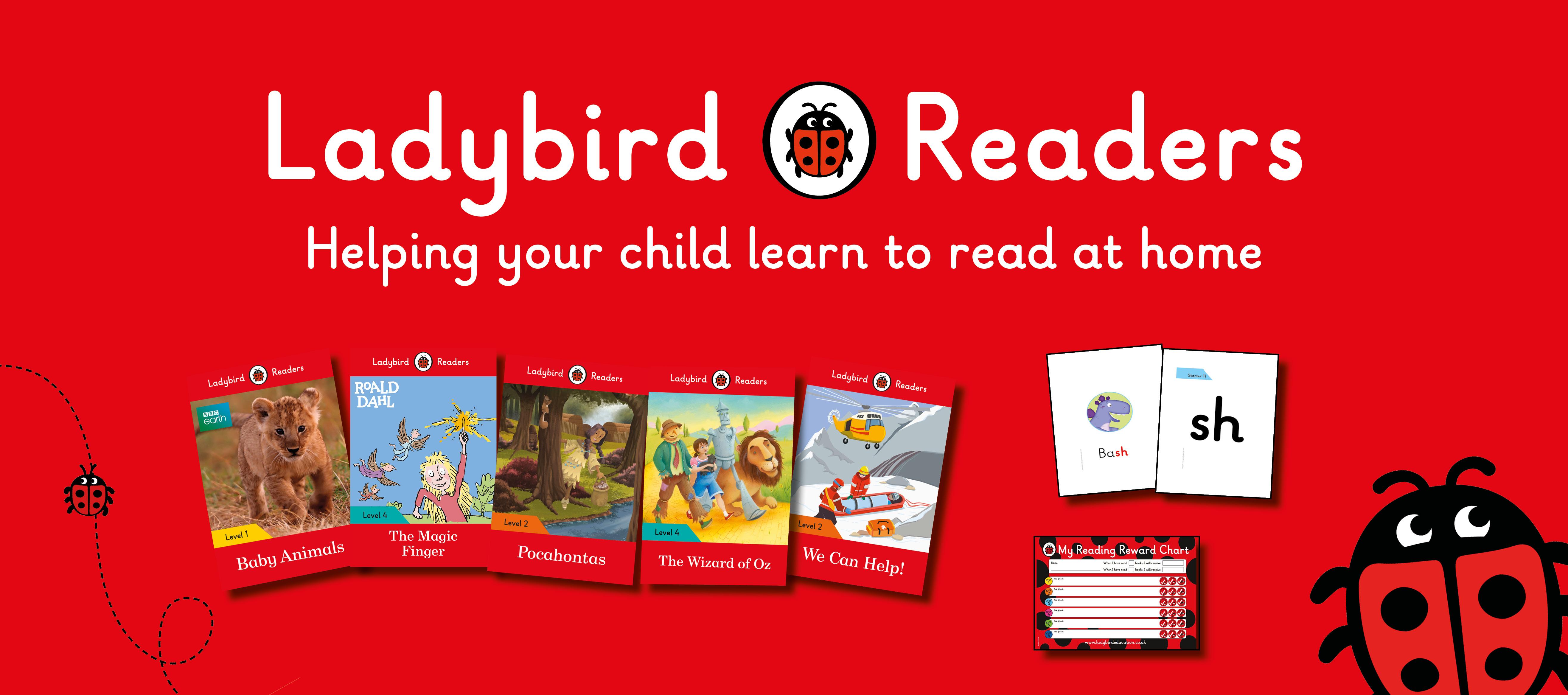 banner amb llibres de Ladybird