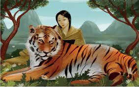 Picture of The woman and the tiger