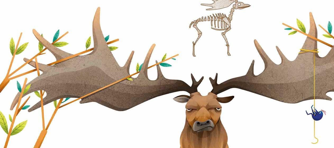 imagen de una especie de reno como animales extinguidos