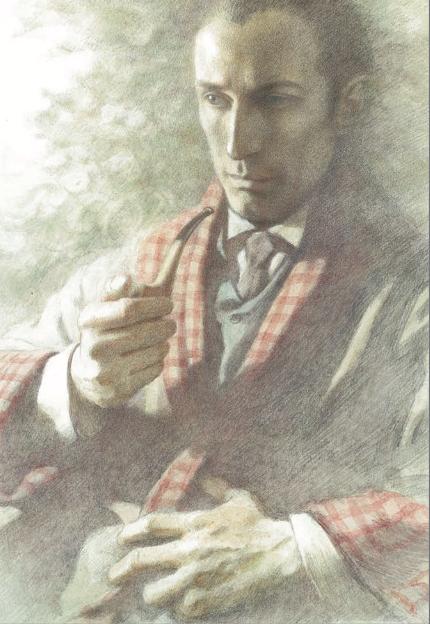 Sherlock Holmes con pipa