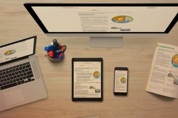 ordinador, tauleta, portàtil... amb imatge edubook a la pantalla per a aplicacions d'Edubook