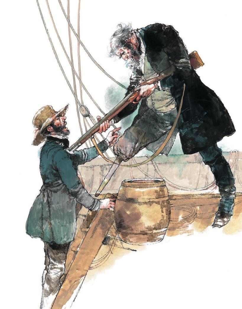 Ilustración del libro Moby Dick por Victor Ambrus