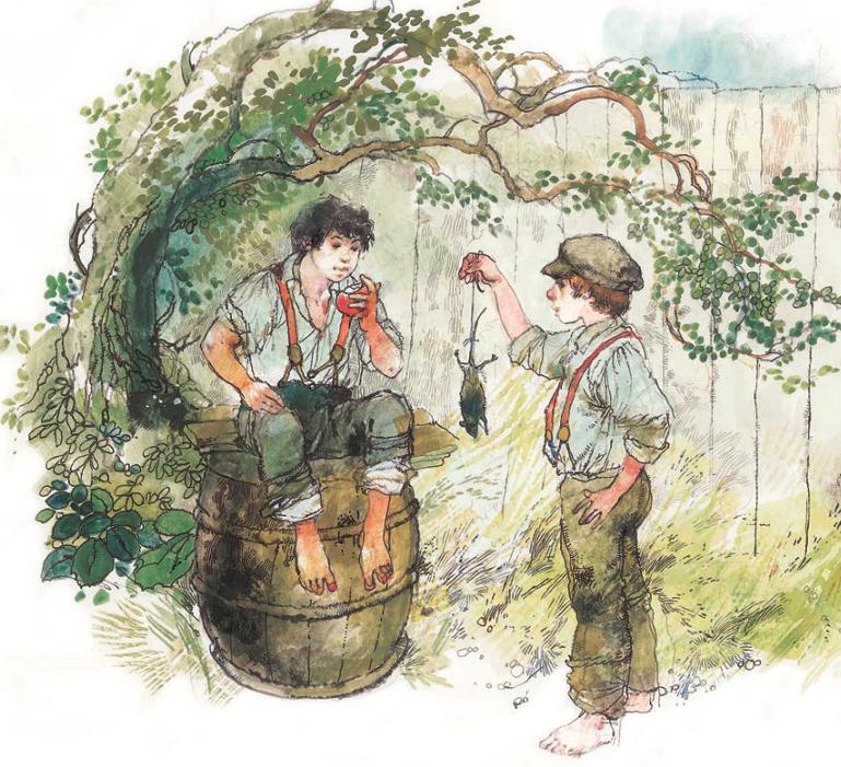 Ilustración del libro Tom Sawyer por Victor Ambrus