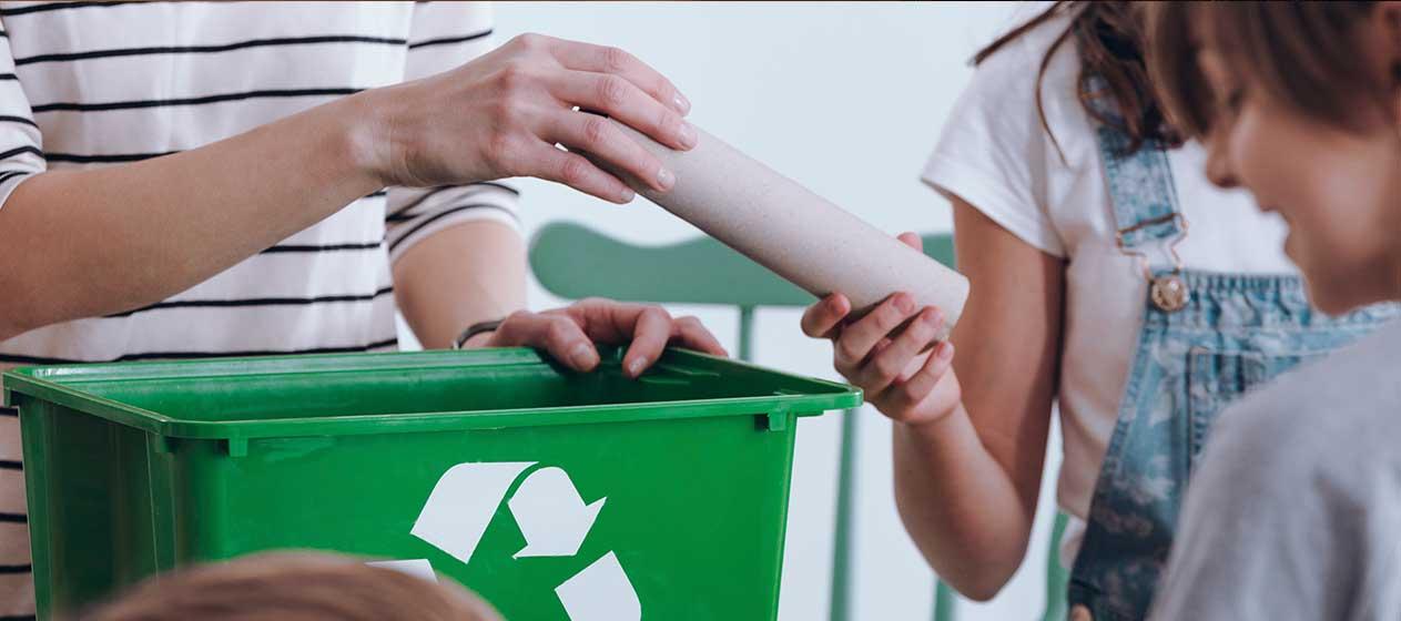Niños reciclaje