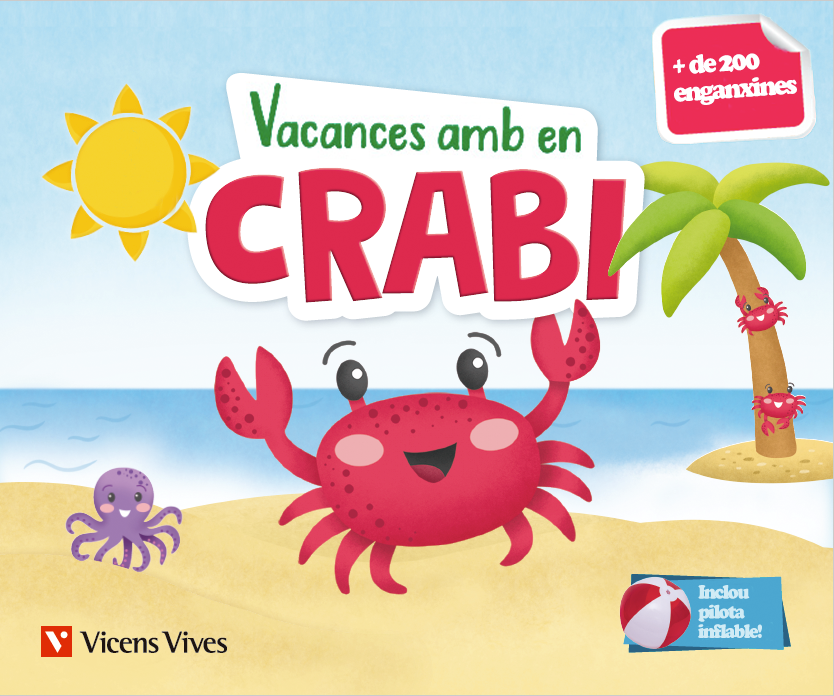 Portada de Vacances amb en Crabi materials divertits per repassar a les vacances